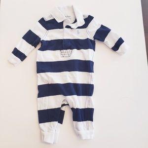 Ralph Lauren 3 months one piece outfit stripe